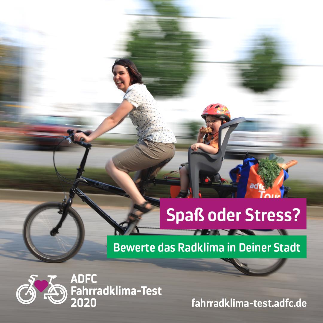 Mach mit beim ADFC-Fahrradklima-Test
