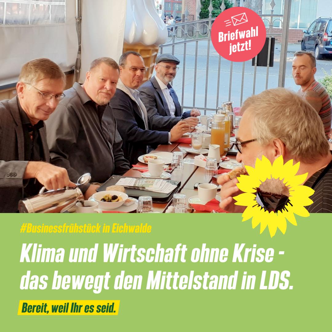 Businessfrühstück mit dem Grünen Direktkandidaten Gerhard Kalinka